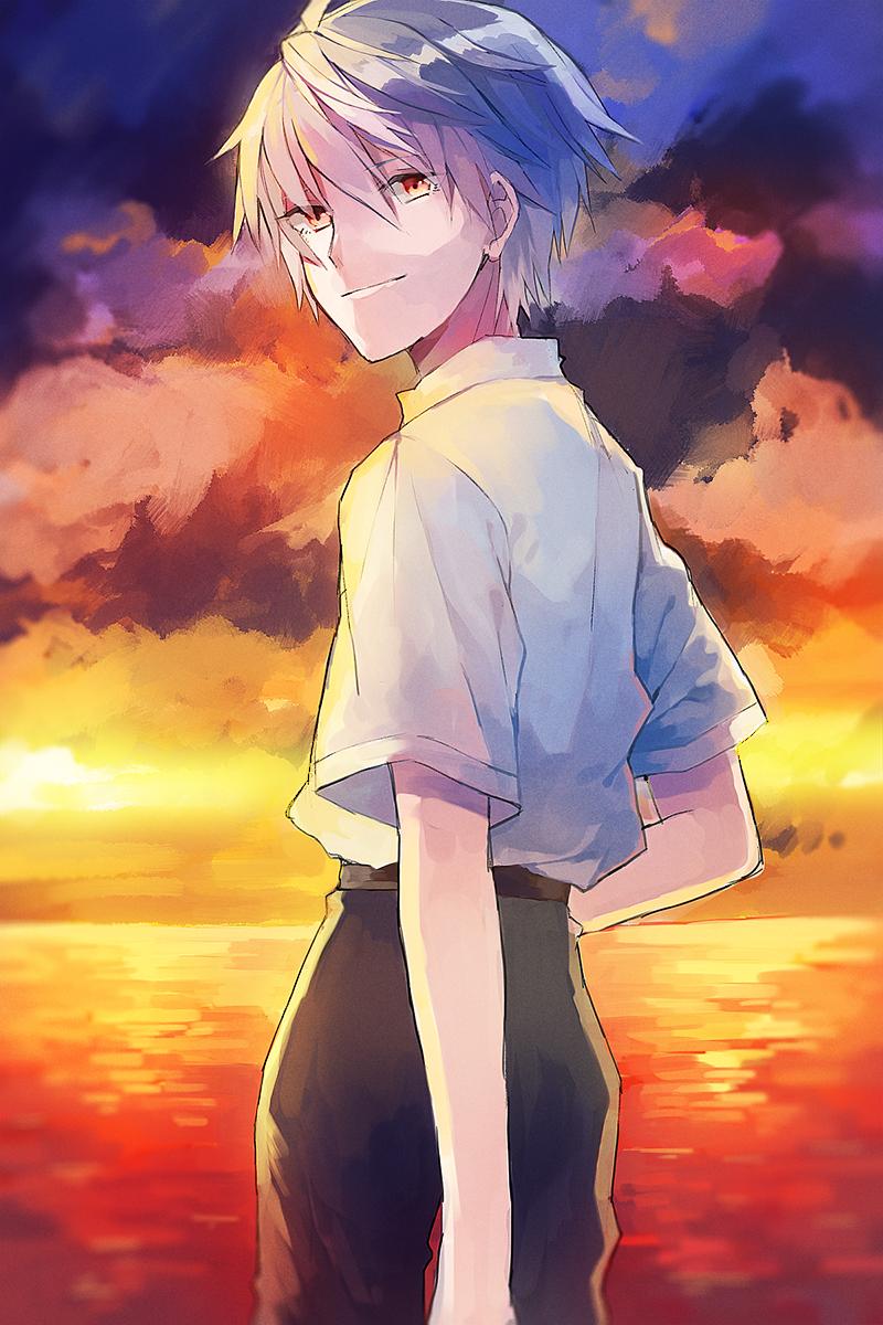 nagisa kaworu - neon genesis evangelion