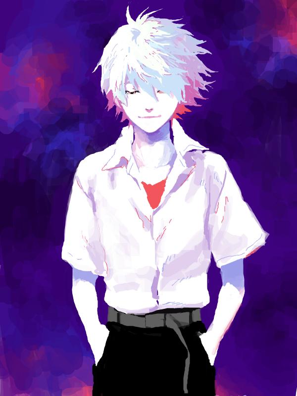 Tags: Anime, Pixiv Id 380287, Neon Genesis Evangelion, Nagisa Kaworu, Mobile Wallpaper, Fanart, Drawr