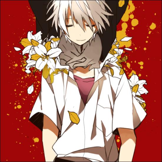 Tags: Anime, Akina422, Neon Genesis Evangelion, Nagisa Kaworu, Choking, Hand on Neck, Fanart