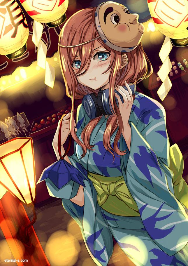 Tags: Anime, Eternal-S, Go-Toubun no Hanayome, Nakano Miku, Pixiv, Fanart, Fanart From Pixiv