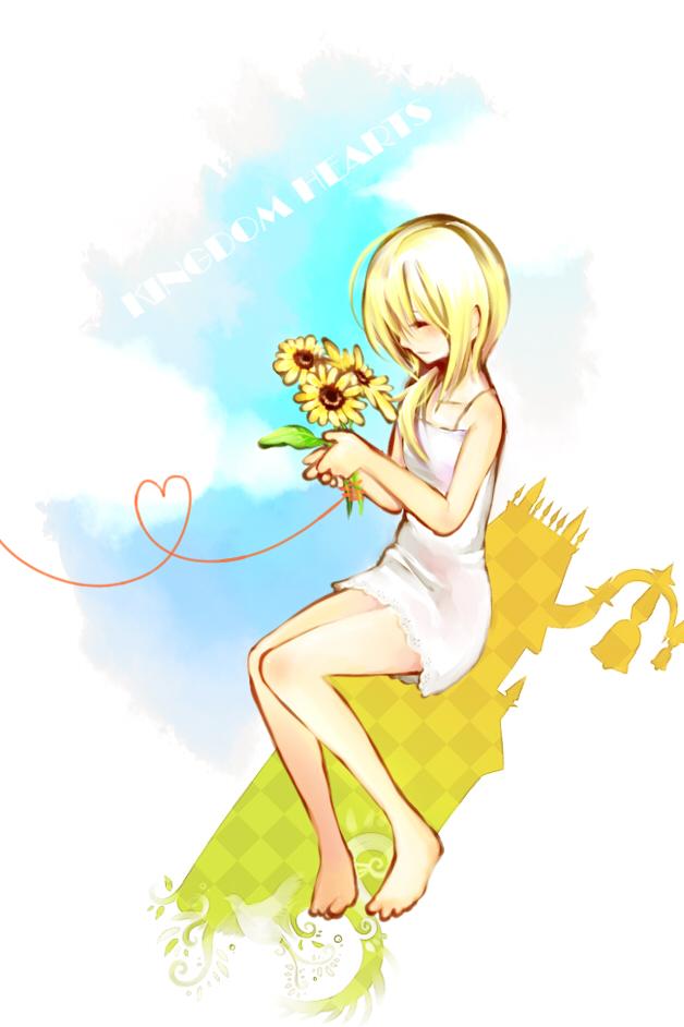 Tags: Anime, Pixiv Id 3178929, Kingdom Hearts II, Kingdom Hearts, Naminé, Twilight Town, Mobile Wallpaper