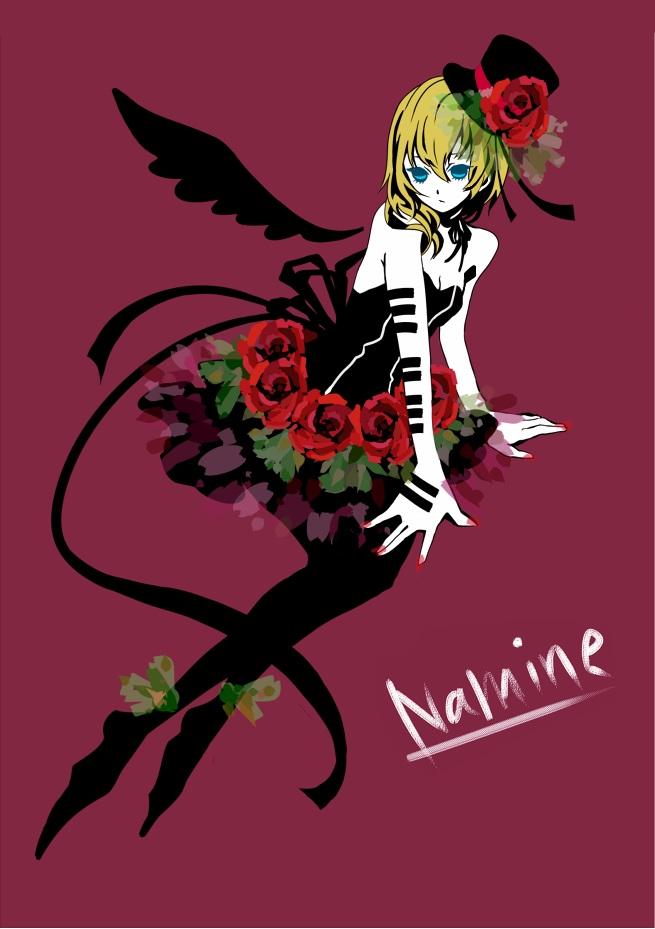 Tags: Anime, Pixiv Id 658541, Kingdom Hearts II, Naminé, Mobile Wallpaper, Fanart, PNG Conversion, Pixiv