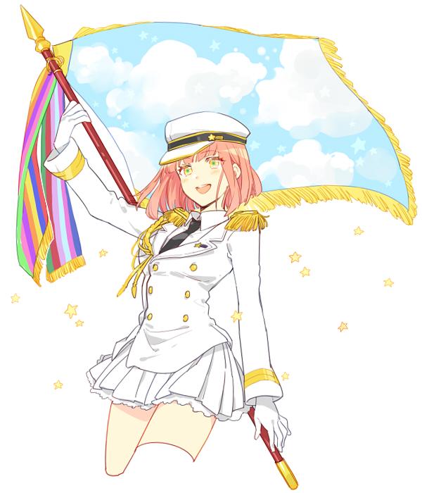 Tags: Anime, Karuha, Uta no☆prince-sama♪, Nanami Haruka, Holding Flag, Fanart