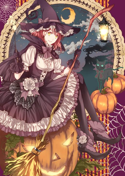 Tags: Anime, Roa Huduki, Uta no☆prince-sama♪, Nanami Haruka, Sitting On Pumpkin, Mobile Wallpaper, Pixiv, Fanart