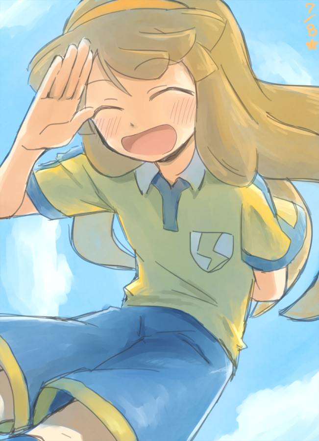 Tags: Anime, Pixiv Id 2071470, Inazuma Eleven GO, Inazuma Eleven GO Chrono Stone, Nanobana Kinako, T-shirt, Blue Sky