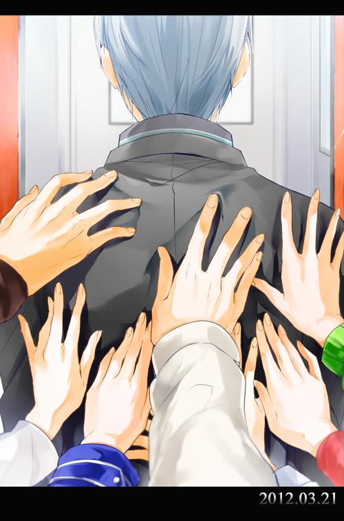 Tags: Anime, Mogmahiru, Shin Megami Tensei: PERSONA 4, Narukami Yu, Pushing, Pixiv, Mobile Wallpaper, Fanart From Pixiv, Fanart
