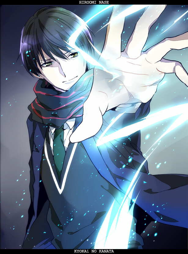 Anime Characters Use Lightning : Nase hiroomi kyoukai no kanata image