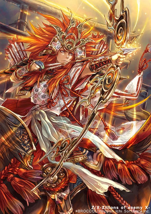 Tags: Anime, Hagiya Kaoru, Nippon Ichi Software, BROCCOLI, Z/X - Zillions of Enemy X, Nasu no Yoichi (Z/X), Official Art, Official Card Illustration