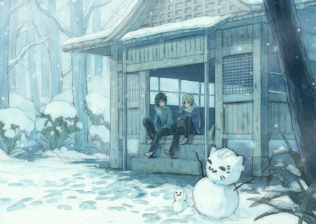 anime snow scenery keywords and pictures