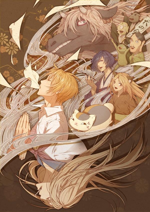 Tags: Anime, Pixiv Id 2855141, Natsume Yuujinchou, Kogitsune, Misuzu (Natsume Yuujinchou), Natsume Reiko, Hitotsume No Chuukyuu Youkai, Natsume Takashi, Hinoe (Natsume Yuujinchou), Nyanko-sensei, Kappa (Natsume Yuujinchou), Kappa, Pixiv, Natsume's Book Of Friends