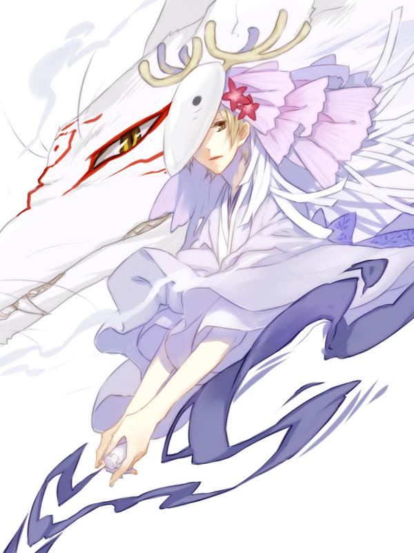 Tags: Anime, PSD, Natsume Yuujinchou, Madara, Natsume Takashi, Deer Mask, Fanart, Pixiv, Fanart From Pixiv, Natsume's Book Of Friends