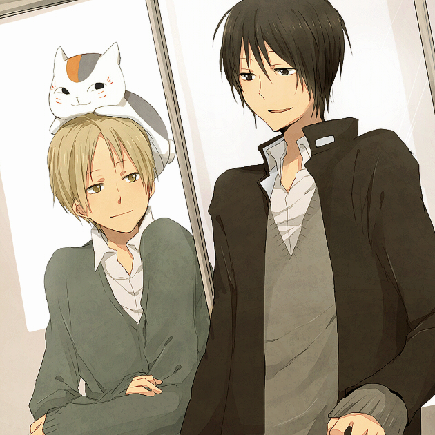 Tags: Anime, Pocky1202, Natsume Yuujinchou, Tanuma Kaname, Natsume Takashi, Nyanko-sensei, Fanart, Pixiv, PNG Conversion, Natsume's Book Of Friends