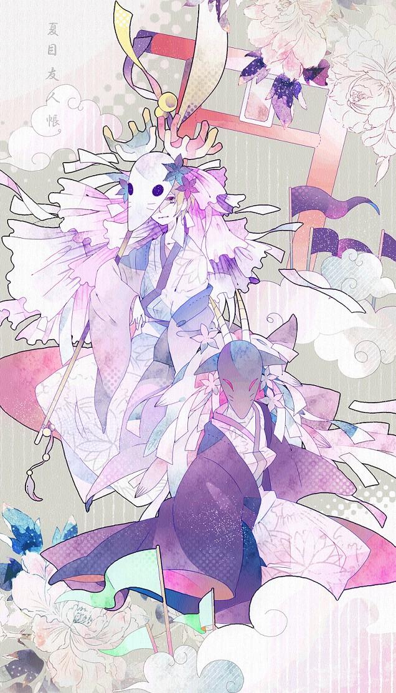 Tags: Anime, Pixiv Id 3390462, Natsume Yuujinchou, Fuzukigami, Natsume Takashi, Deer Mask, Houzukigami (Cosplay), Fanart, Mobile Wallpaper, Pixiv, Natsume's Book Of Friends