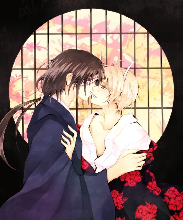 Tags: Anime, Xaikra (Artist), Natsume Yuujinchou, Matoba Seiji, Natsume Takashi, Round Window, Pixiv, Fanart, Natsume's Book Of Friends
