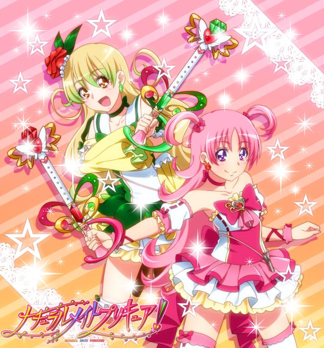 Tags: Anime, 0417nao, Pretty Cure Fan Series, Natural Mate Precure!, Morino Futaba, Tsubaki Renka, Cure Leaf (Natural Mate), Cure Frame, Pixiv