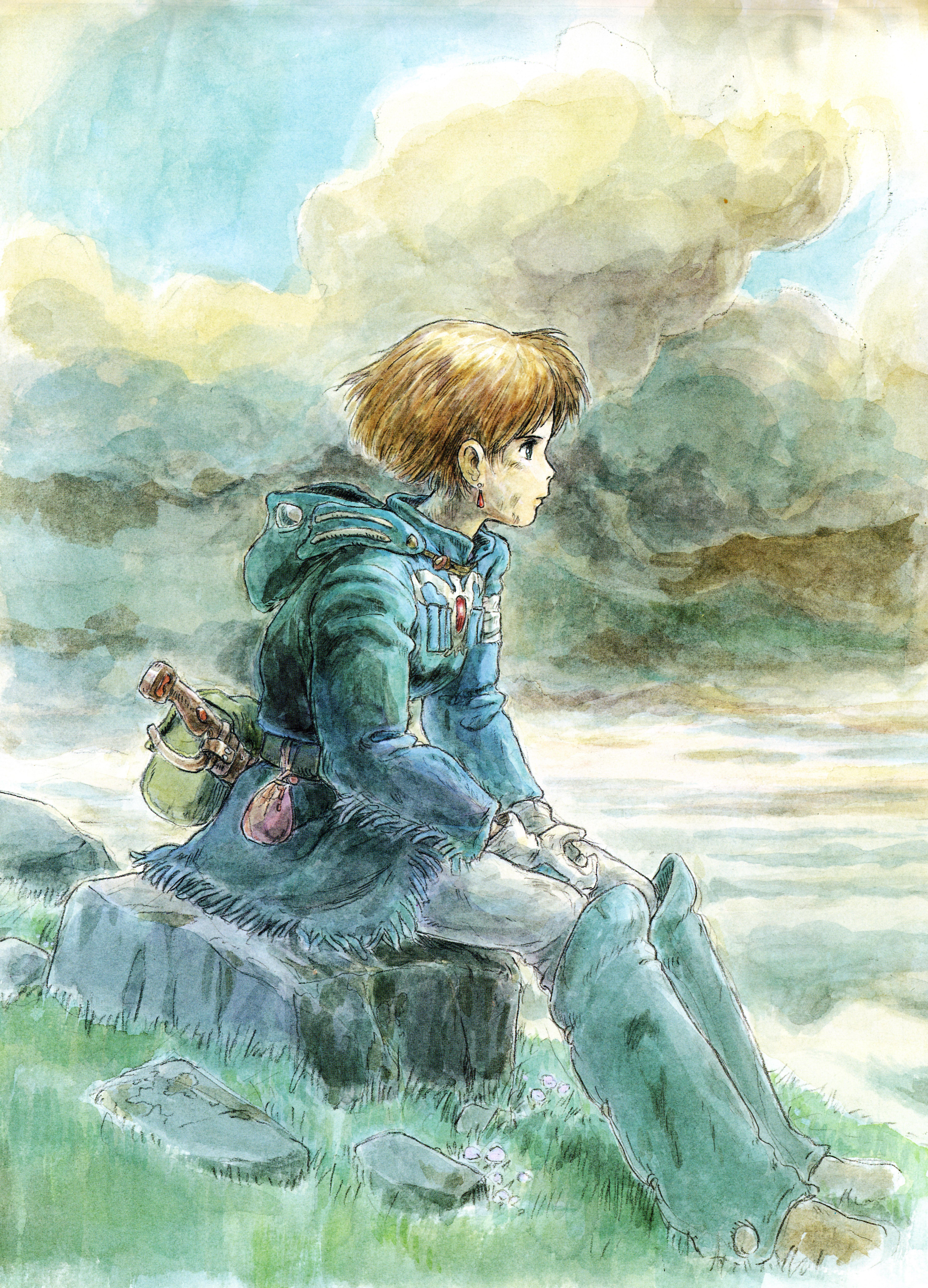 Wallpaper : illustration, anime, Princess Mononoke, Studio ... |Nausicaa Studio Ghibli Wallpaper
