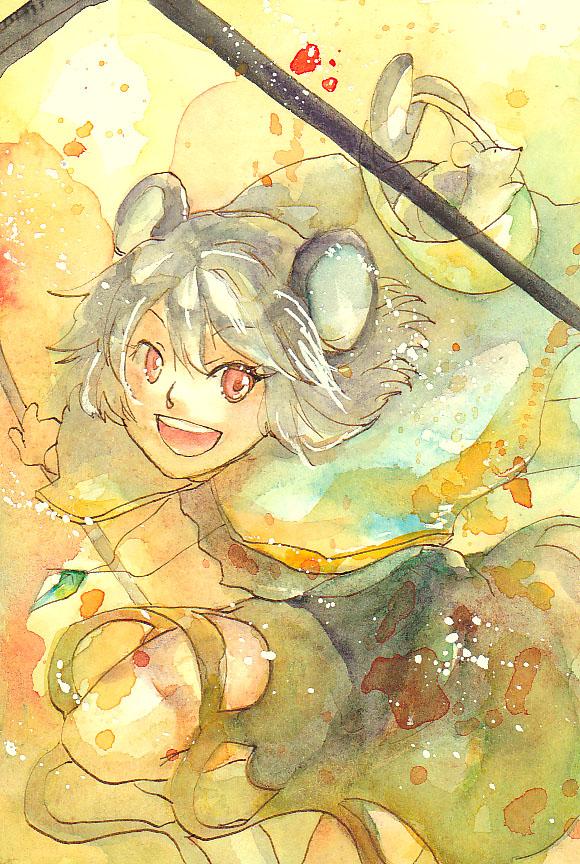 Tags: Anime, Campanula-Star, Touhou, Nazrin, Watercolor, Traditional Media