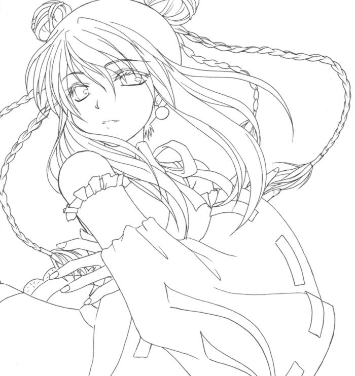 Zerochan Lineart : Nefis image  zerochan anime board