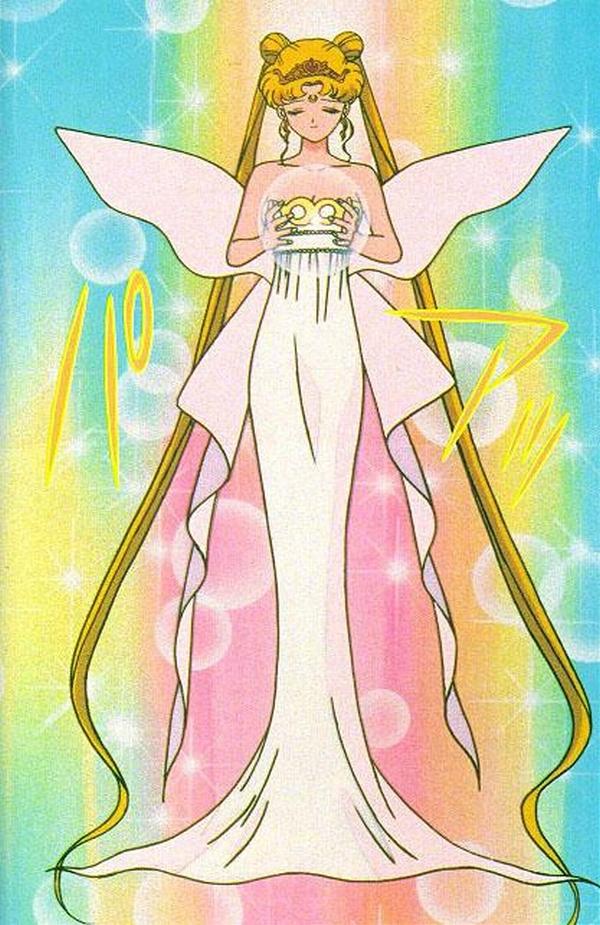 Tags: Anime, Tadano Kazuko, Bishoujo Senshi Sailor Moon, Tsukino Usagi, Neo-Queen Serenity, Serenity Crystal Tiara, Silver Crystal, Mobile Wallpaper