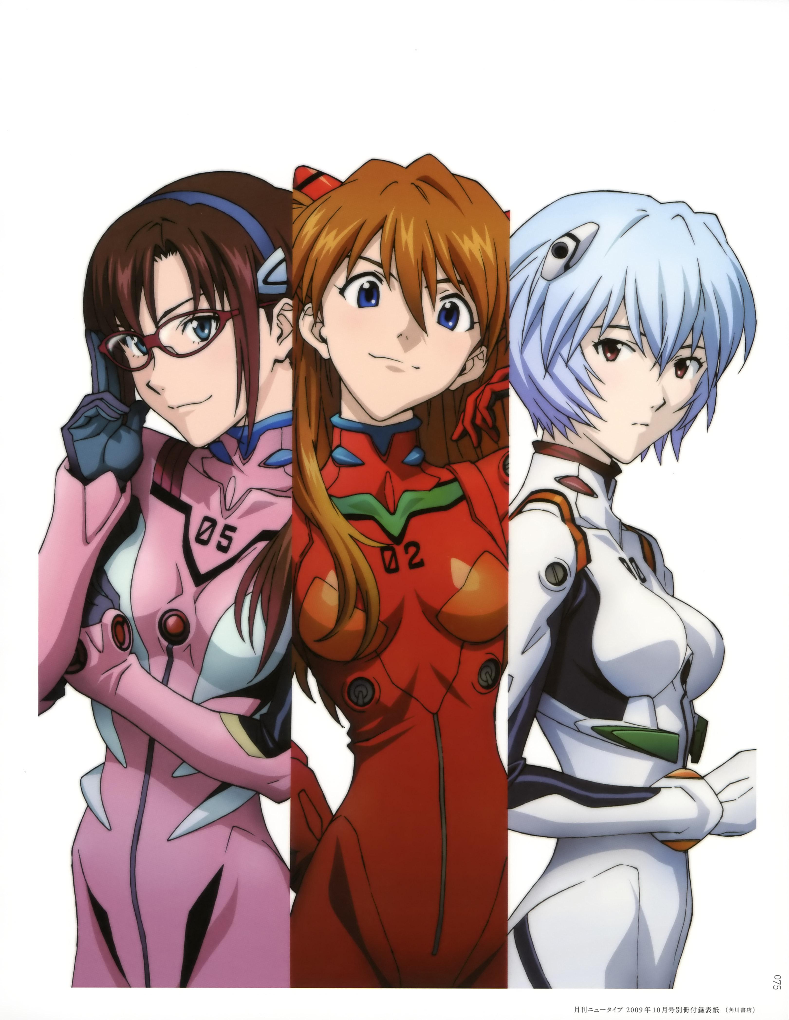 Neon genesis evangelion female characters