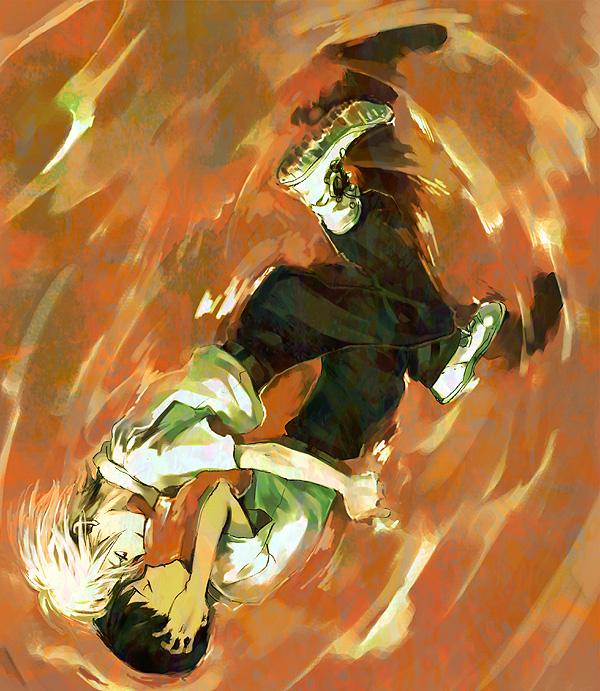 Tags: Anime, Pixiv Id 391934, Neon Genesis Evangelion, Nagisa Kaworu, Ikari Shinji, Fanart, Pixiv, KawoShin