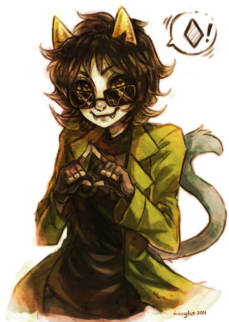 Tags: Anime, Lazylaz, Homestuck, Nepeta Leijon, Gray Gloves, Gray Handwear, Cracks, Tumblr, Fanart, Requested Upload, PNG Conversion, Mobile Wallpaper