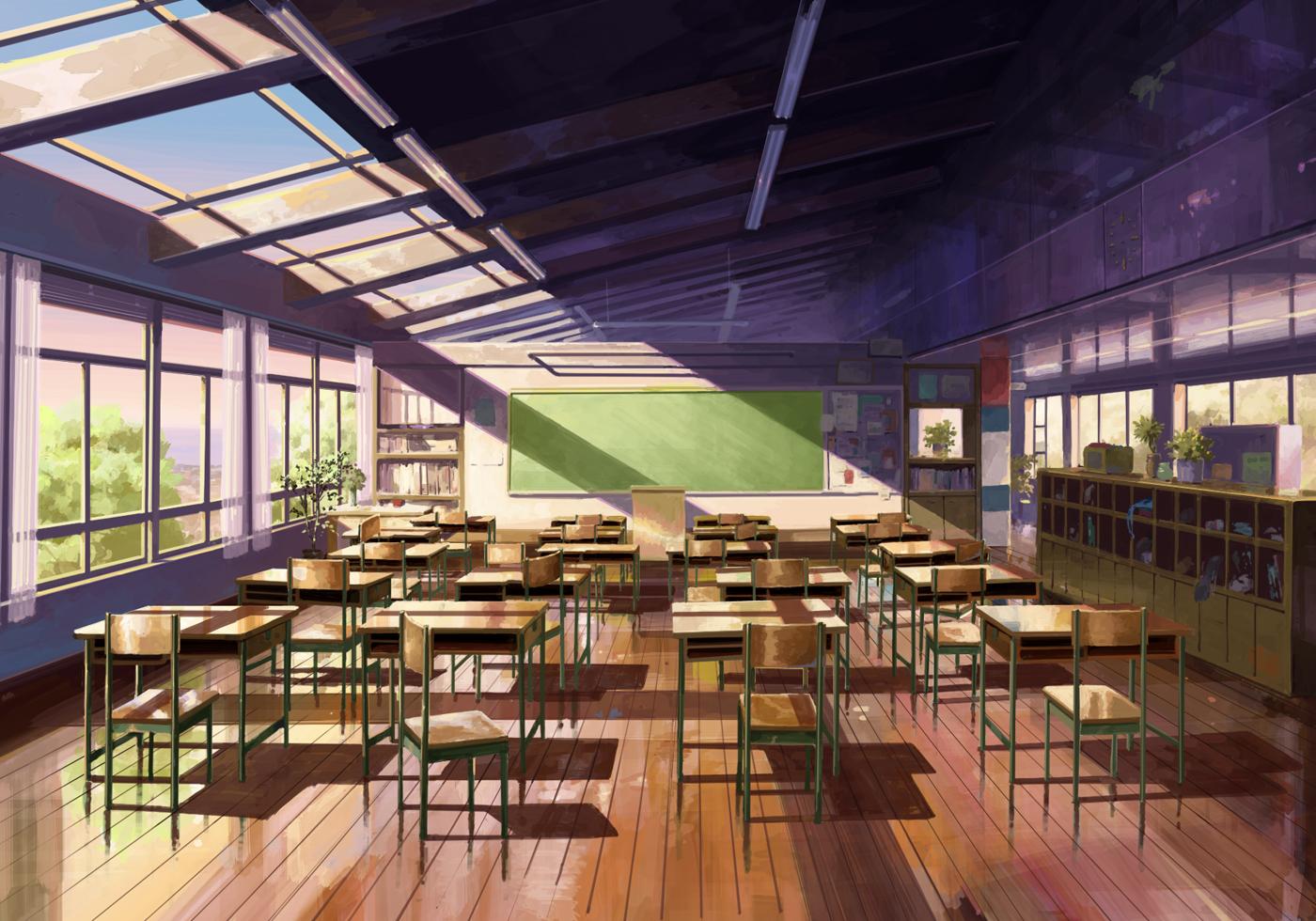 Scenery School Zerochan Anime Image Board