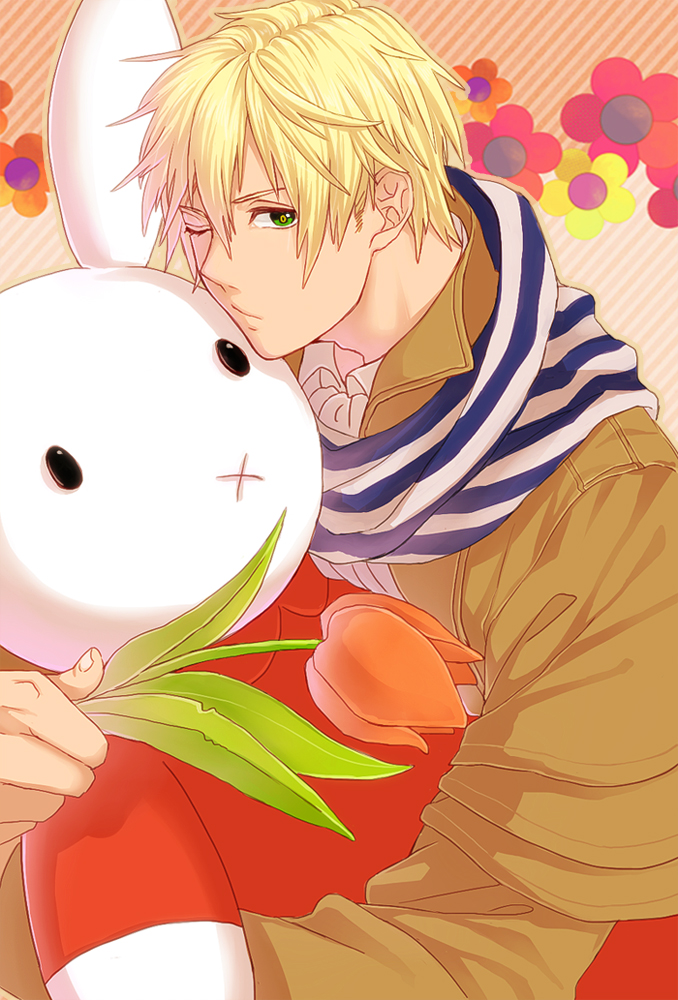 Tags: Anime, Tokuko Ma-ma, Axis Powers: Hetalia, Nijntje, Netherlands, Tulip, Fanart, Mobile Wallpaper, Pixiv, Germanic Countries