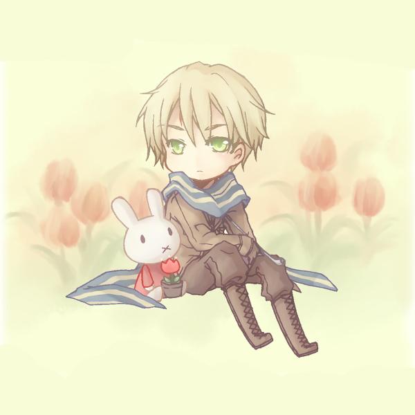 Tags: Anime, Nemuri (Pixiv518661), Axis Powers: Hetalia, Nijntje, Netherlands, Tulip, deviantART, Fanart From DeviantART, Fanart
