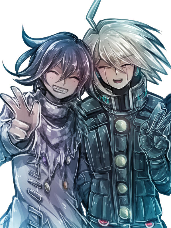 Tags: Anime, Isuckatthisdonti, New Danganronpa V3, Ouma Kokichi, Kiibo (New Danganronpa V3), Wallpaper, Danganronpa V3: Killing Harmony