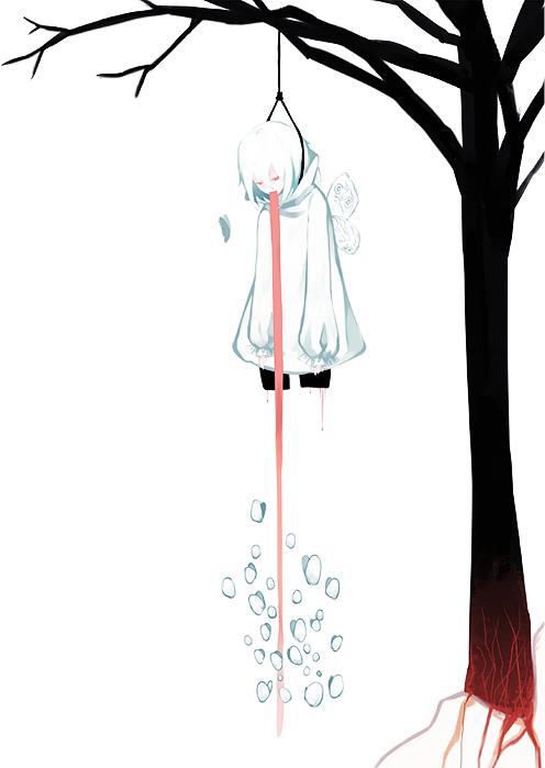 Tags: Anime, Neyti, Suicide, Noose, Pixiv, Mobile Wallpaper, Original