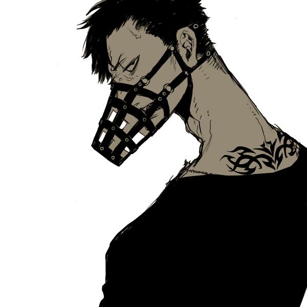 Tags: Anime, Kohsuke, GANGSTA., Nicholas Brown, Dog Muzzle