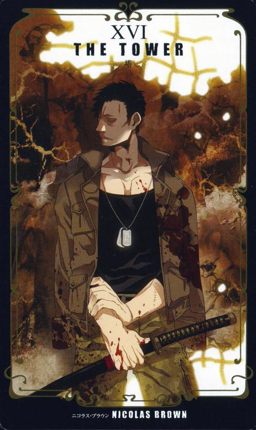 Tags: Anime, Kohsuke, GANGSTA., Nicholas Brown, The Tower, Mobile Wallpaper, Official Art, Scan