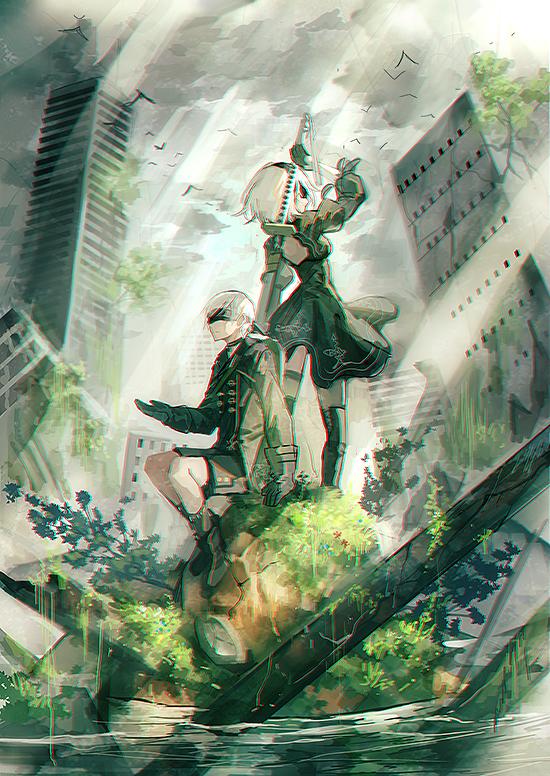 Nier Automata Mobile Wallpaper Zerochan Anime Image Board