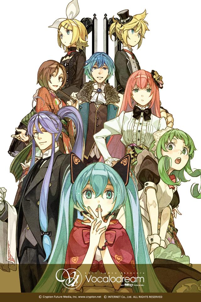 Tags: Anime, Hidari, Exit Tunes (Studio), VOCALOID, GUMI, Kagamine Len, Kamui Gakupo, Kagamine Rin, MEIKO (VOCALOID), Megurine Luka, Hatsune Miku, KAITO, Mobile Wallpaper