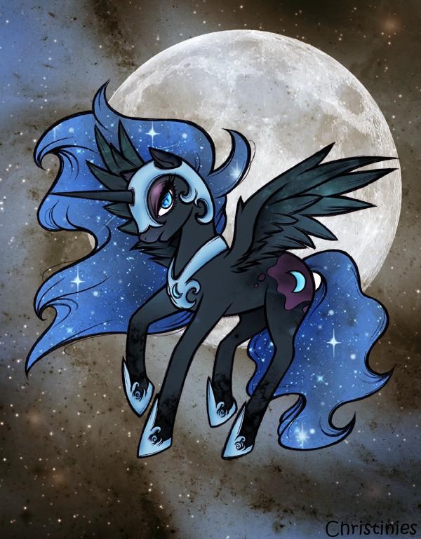 Tags: Anime, Christinies, My Little Pony, Princess Luna, Nightmare Moon, Alicorn, Pegasus, Cutie Mark, Fanart From DeviantART, Fanart, deviantART