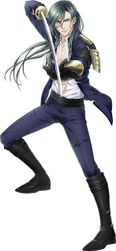 Tags: Anime, Becco, Nitro+, Touken Ranbu, Nikkari Aoe, Scratch, Wakizashi, PNG Conversion, Official Art, Cover Image