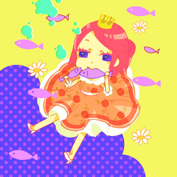 Tags: Anime, Calico, Arakawa Under the Bridge, Nino (Arakawa), Daisy (Flower), Venus to Jesus, Pixiv, Fanart