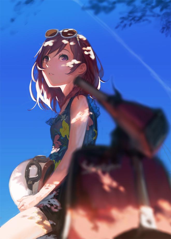 Tags: Anime, Ekao, Love Live!, Nishikino Maki, Vespa, Scooter, Pixiv, Fanart, Mobile Wallpaper, Maki Nishikino
