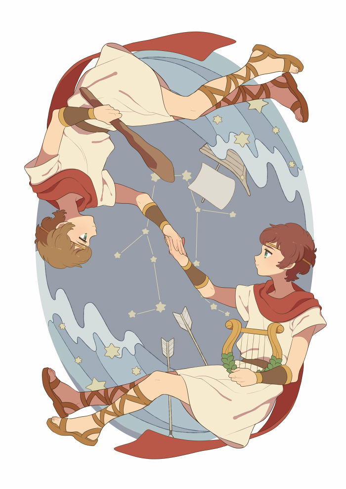 Tags: Anime, Niwatorisann, Sandals, Zodiac (Personification), Archery ...