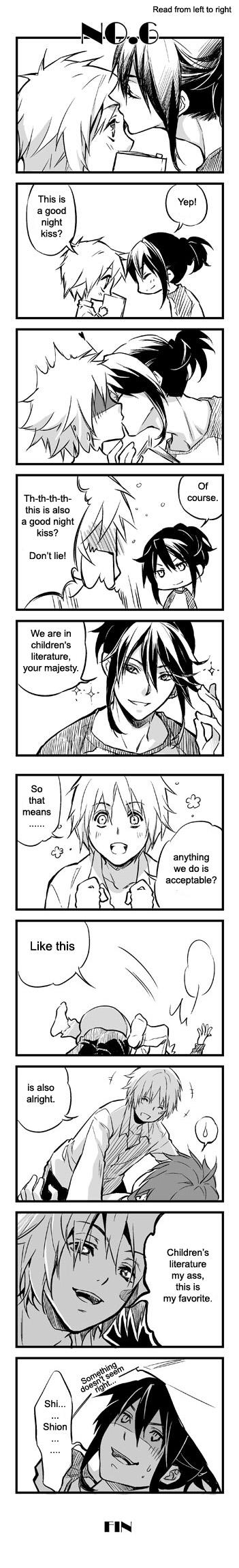 Tags: Anime, No.6, Shion (No.6), Nezumi (No.6), Artist Request, Comic, NezuShi
