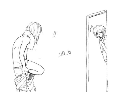 Tags: Anime, Pixiv Id 1395202, No.6, Shion (No.6), Nezumi (No.6), Pixiv, Sketch, Fanart