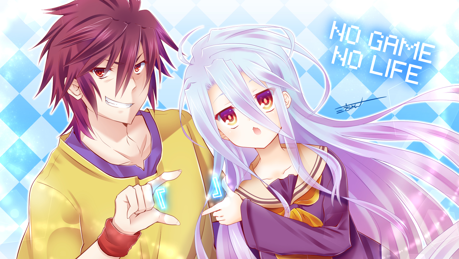 Hasil gambar untuk no game no life sora and shiro