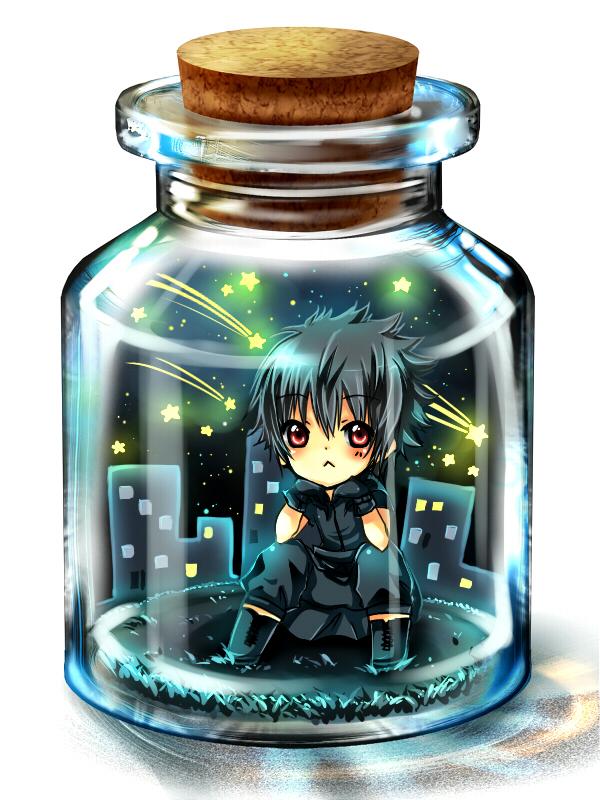 Tags: Anime, Arakunae, Final Fantasy XV, Noctis Lucis Caelum, In a Bottle, Pixiv Bottle, Pixiv, Wallpaper