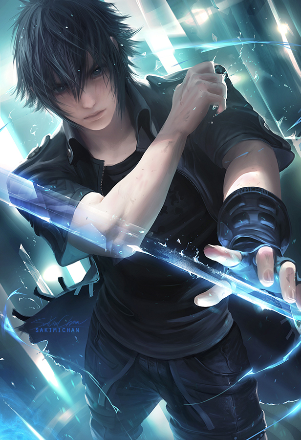Tags: Anime, Sakimichan, Final Fantasy XV, Noctis Lucis Caelum, Fanart From Pixiv, Mobile Wallpaper, Fanart, Revision, Tumblr, deviantART, Fanart From DeviantART, Pixiv, Fanart From Tumblr