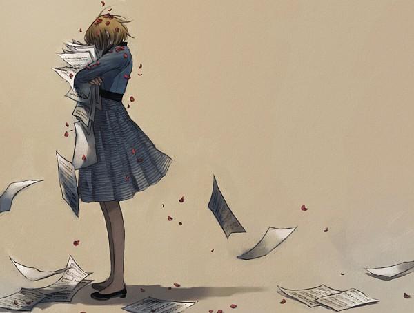 Tags: Anime, Nodame Cantabile, Noda Megumi, Paper, Sad, Sheet Music