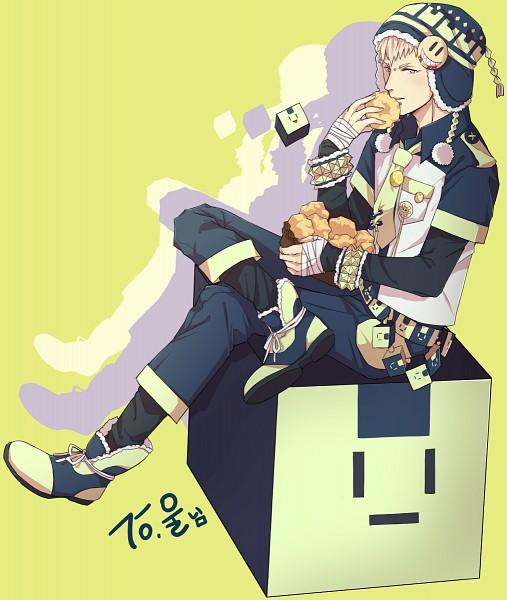 Tags: Anime, Pixiv Id 3870832, DRAMAtical Murder, Usagimodoki, Noiz (DMMd), Yellow Background