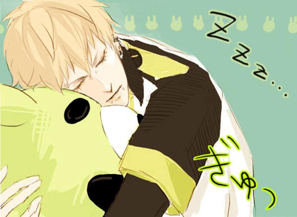 Tags: Anime, Pixiv Id 3182875, DRAMAtical Murder, Noiz (DMMd), Nose Piercing, Lip Piercing, Stuffed Bear
