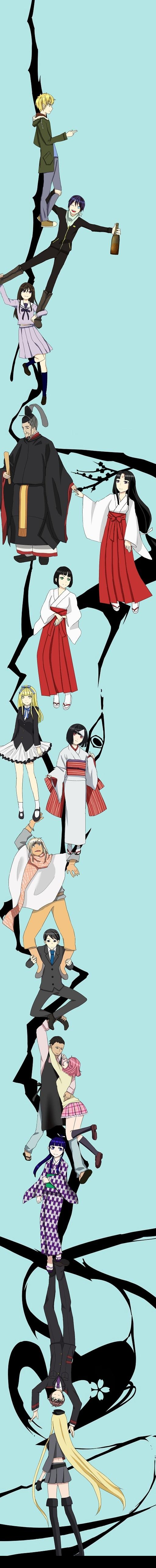 Tags: Anime, Pixiv Id 2601605, Noragami, Yukine (Noragami), Mayu (Noragami), Kazuma (Noragami), Yato (Noragami), Kugaha (Noragami), Bishamonten (Noragami), Tenjin (Noragami), Nora (Noragami), Daikoku (Noragami), Iki Hiyori