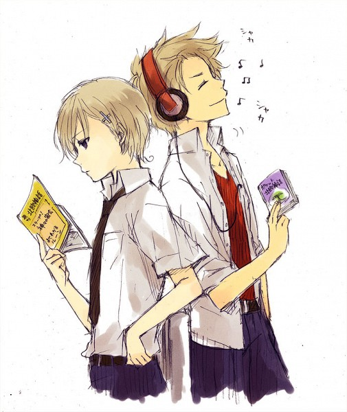 Tags: Anime, Axis Powers: Hetalia, Norway, Denmark, Back to Back, Nordic Countries
